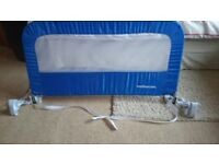 Mothercare Folding Bed Guard Blue Very Good Condition