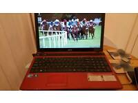 Laptop acer aspire red