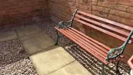 4 garden benches for sale. 1 newly refurbished, 3 need a little attention