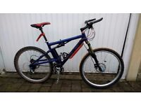 Santa Cruz Superlight Mountain Bike, Custom Made, Medium frame, anodized blue