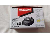 MAKITA 18V 6.0 Ah LXT Li-on Battery Pack BL1860 Original New in Box 2017 New Generation Limited