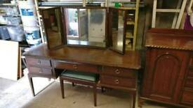 Stag dressing table antique pine