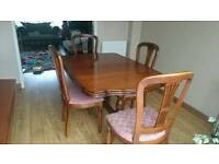Cherrywood Dining Table & 4 Chairs