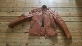 Retro leather bikers style jacket Reiss