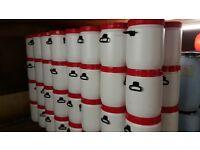 plastic barrels
