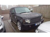 "Black 03 Range Rover Vouge L322 4.4 129k long mot private plate tinted windows 22""Stormer alloys!"