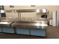 Bain marie 5 trays with hot cupboard