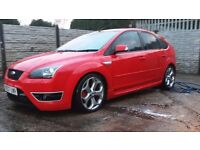 FORD FOCUS ST-3 225 RED HEATED LEATHER RECAROS GOOD SPEC