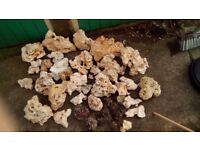 Coral rock and coral gravel