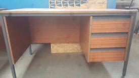 Desk with 3 draws (with key)