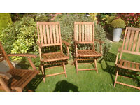 Garden Chairs x 4 carver chairs