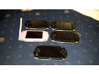5 x PSP Bundle (Bundle includes PSP, Games Disc, Charger, Games And Memory Card) (READ AD)