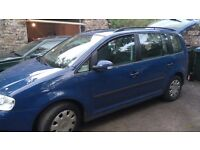 VW TOURAN 1.6 Petrol 2004 - 5 seater
