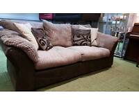 Jumbo cord mocca Brown fabric 3 seater sofa (quality suites and sofas)