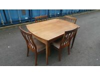 Retro Vintage Mid Century dining table & 8 chairs by Greaves & Thomas