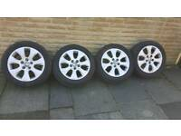 """Immaculate set of Vauxhall Insignia SRi 17"""" alloy wheels with 2 New tyres."""