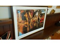 large framed Salvador Dali picture