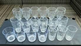 ACRYLIC GLASSES PLASTIC GLASSES CARAVAN MOTOR HOME CAMPING TENT CAMPER VAN