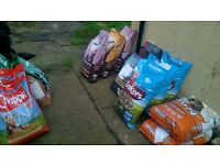 job lot of dog food dry 15kg wagg wainwrights chappie worker bakers over 15 bags!