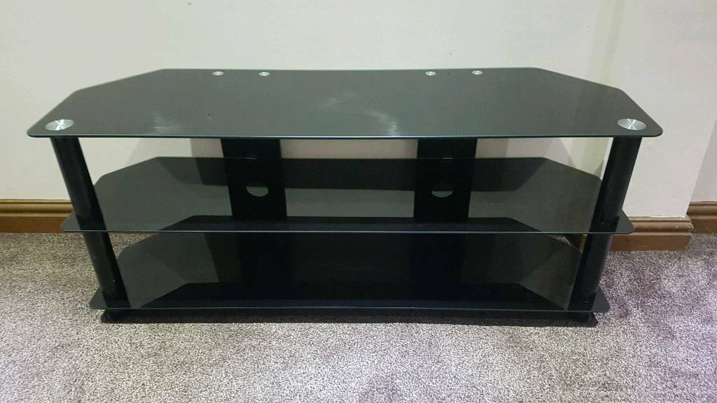 Marvelous Glass Tv Stand Table Black In Handsworth Wood West Midlands Gumtree Caraccident5 Cool Chair Designs And Ideas Caraccident5Info