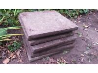 FREE - about 60 concrete paving slabs