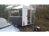 Burger van with pitch and generator