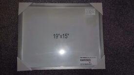 "19"" x 15"" silver photo frame"