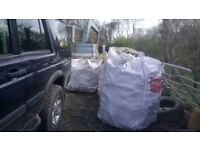 3 huge bags of firewood for woodburning stove