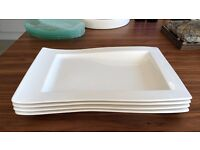 Set of 4 - Villeroy and Boch NewWave Rectangular Salad Plate 26x20cm