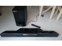 LG Soundbar with Blu-ray player and Wireless Subwoofer HLB54S