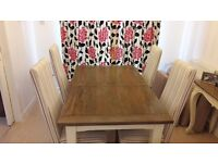 Dining Table & Chairs (4) - solid wood