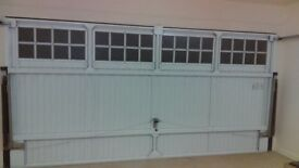 White double garage door with window