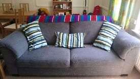 Grey 3 seater sofa, very comfy.