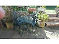 Bistro garden table and chairs set