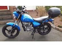 Zontes Tiger 125cc Motorbike Learner Legal, as new