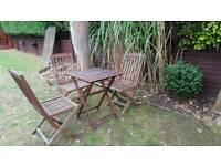 Solid wood chairs and table RRP £150