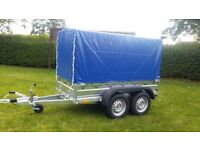 New car trailer 8.7 x 4.2 cover with braked trailer 2700kg £ 1850 INC VAT
