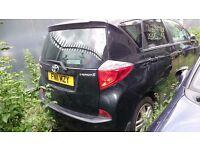 Toyota VERSO-S, Black colour, Manual, petrol, year 2011 quick sale