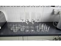 Champagne and shot glasses