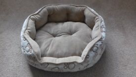 Dog bed never been slept in.