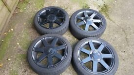 Alloy rims with tyre for Ford Fiesta