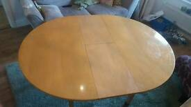 Beech effect Habitat dinning room table
