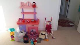 Kitchen set and other various toys