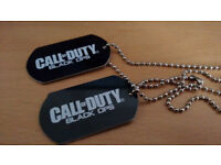Call of Duty black ops Dog Tag With Date