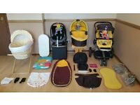 Quinny Buzz 3 Travel System Limited Edition Pushchair Pram Stroller & Maxi Cosi Car Seat & Carry Cot