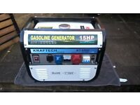 Petrol generator, new, kraftech kt-6500, 230v and 380v 3 phase. (N.Dorset)