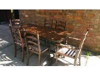 Mahogany dining table set