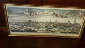 stunning framed antique map