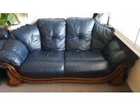 Real Italian leather 3 Piece Sofa