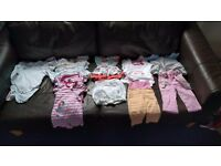 Girls clothing bundle 0-3 months